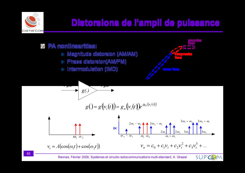 PA nonlinearities: Magnitude distorsion (AM/AM)...