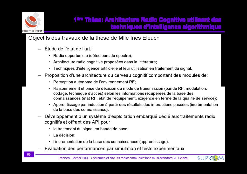 Objectifs des travaux de la thèse de Mlle Ines ...