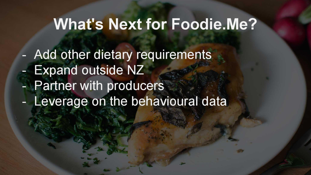 What's Next for Foodie.Me? - Add other dietary ...