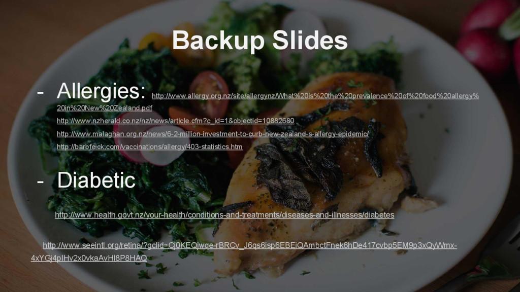 Backup Slides - Allergies: http://www.allergy.o...