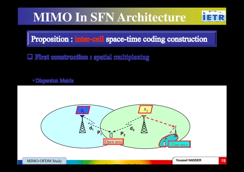 [ ] 1 2 tr s s = X MIMO In SFN Architecture • D...