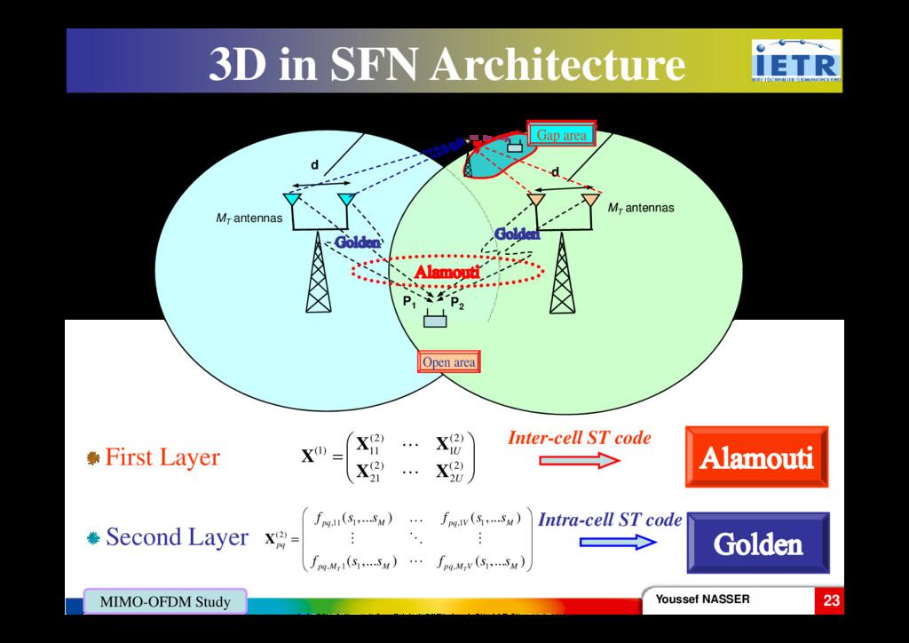 3D in SFN Architecture D d d P1 P2 MT antennas ...