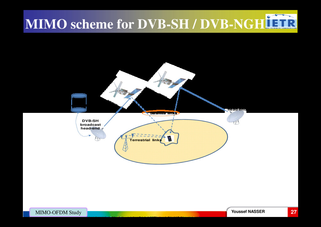 MIMO scheme for DVB-SH / DVB-NGH DVB-SH broadca...