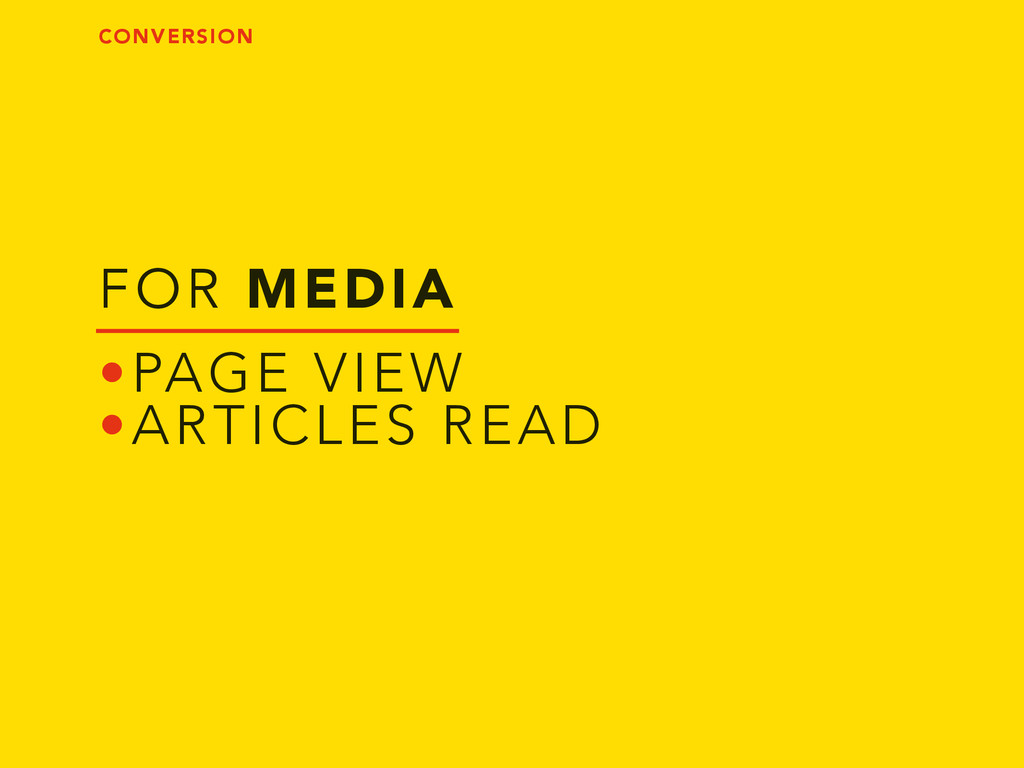 FOR MEDIA •PAGE VIEW •ARTICLES READ CONVERSION