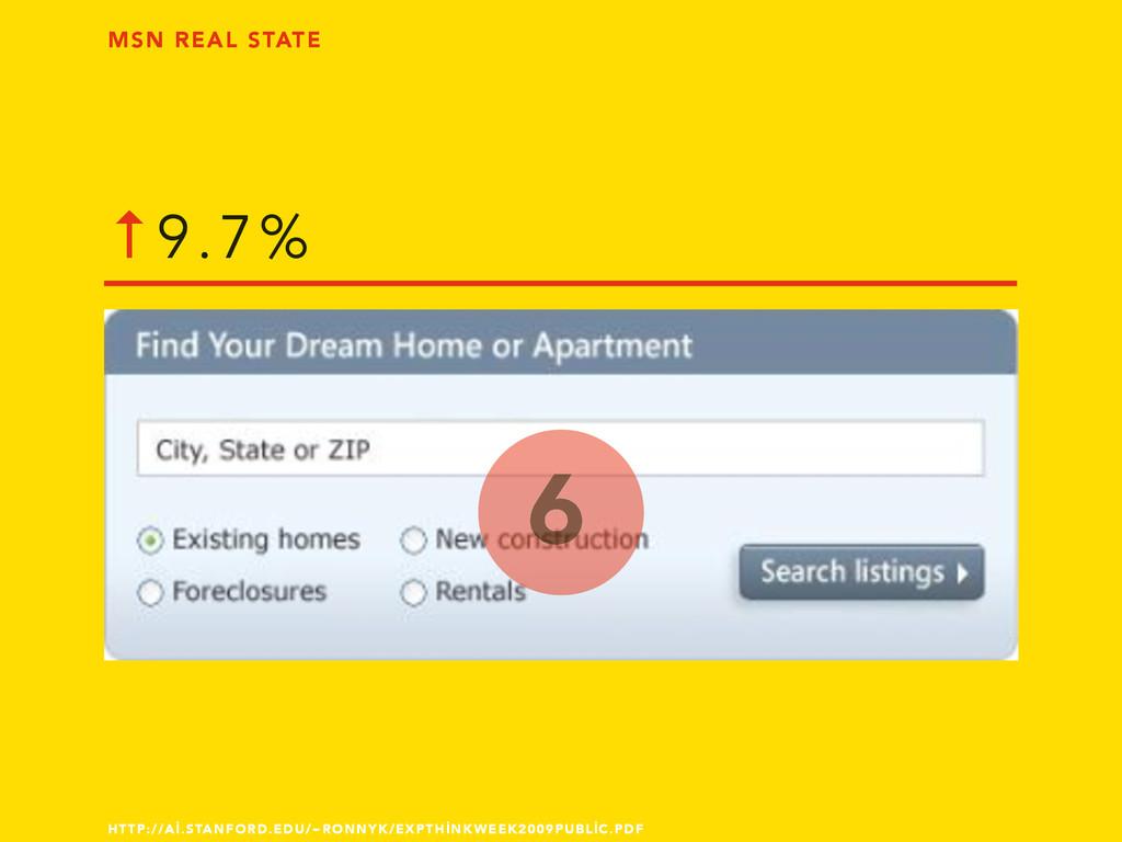 6 MSN REAL STATE ↑9.7% HTTP://Aİ.STANFORD.EDU/~...