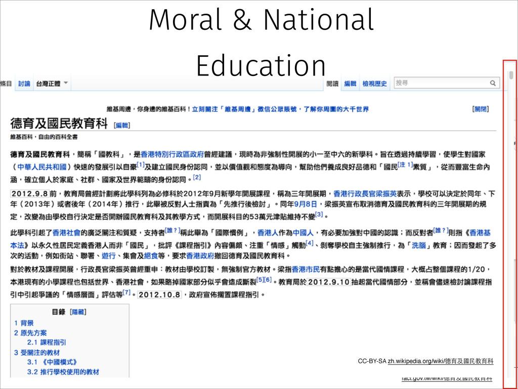 fact.g0v.tw/wiki/德育及國⺠民教育科 CC-BY-SA zh.wikipedi...