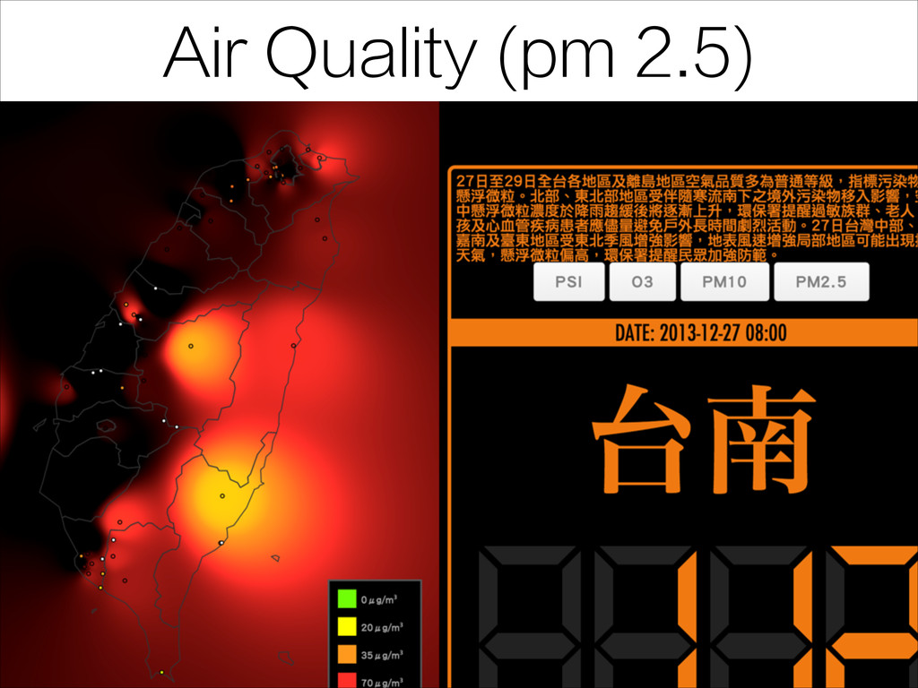 Air Quality (pm 2.5)