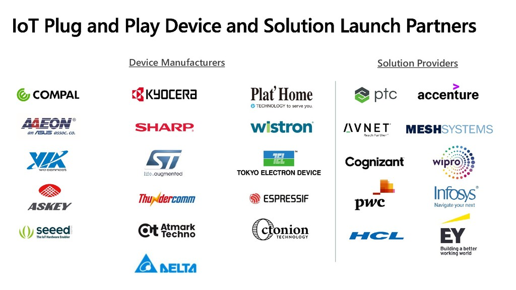 Solution Providers Device Manufacturers