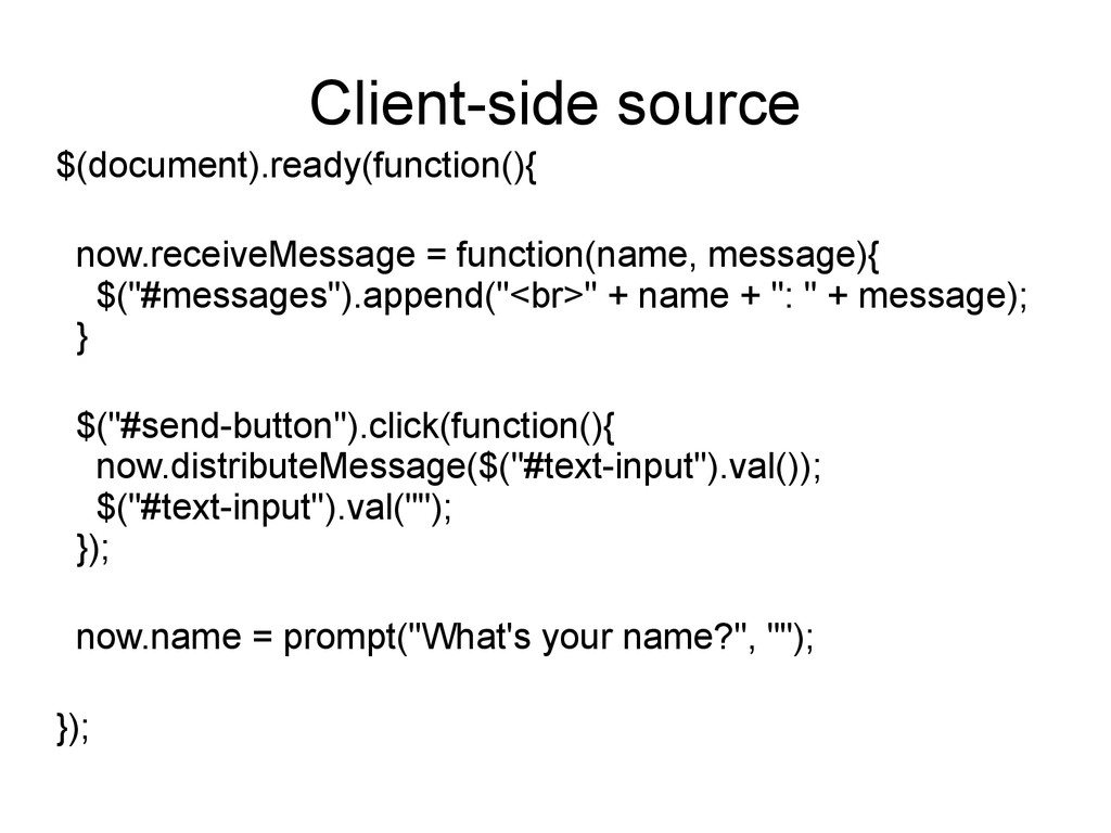 Client-side source $(document).ready(function()...