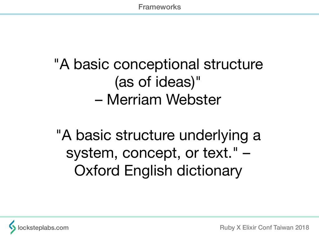 """A basic conceptional structure   (as of ideas)..."