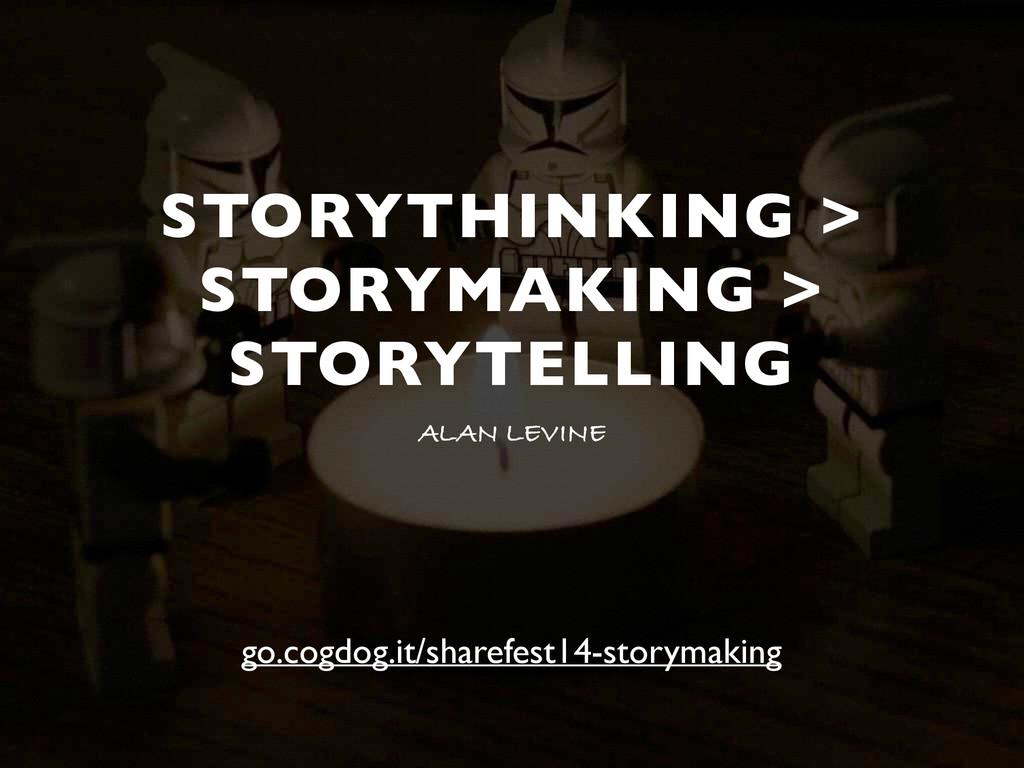 STORYTHINKING > STORYMAKING > STORYTELLING ALAN...