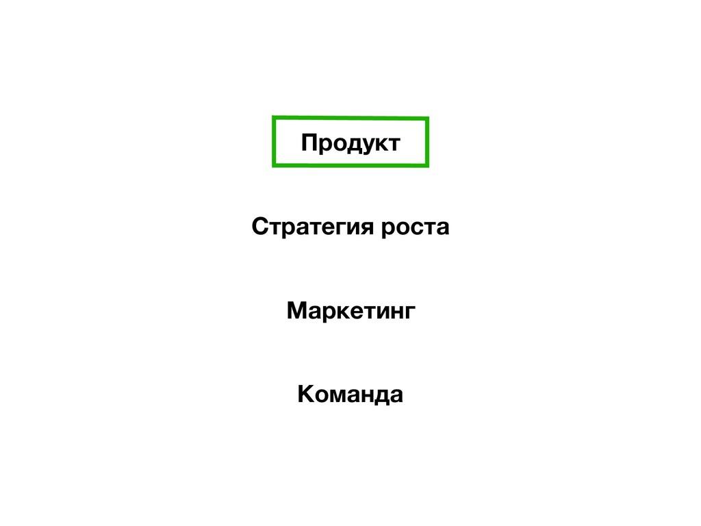Продукт Стратегия роста Маркетинг Команда