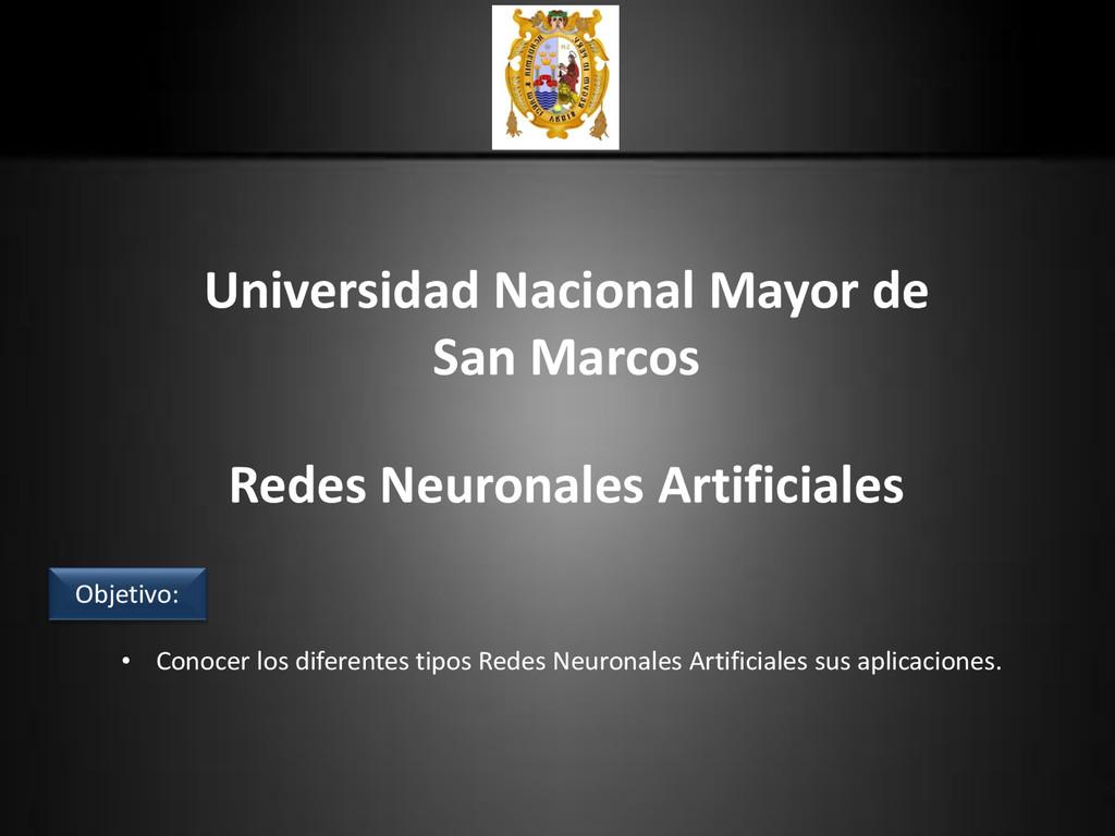 Universidad Nacional Mayor de San Marcos Redes ...