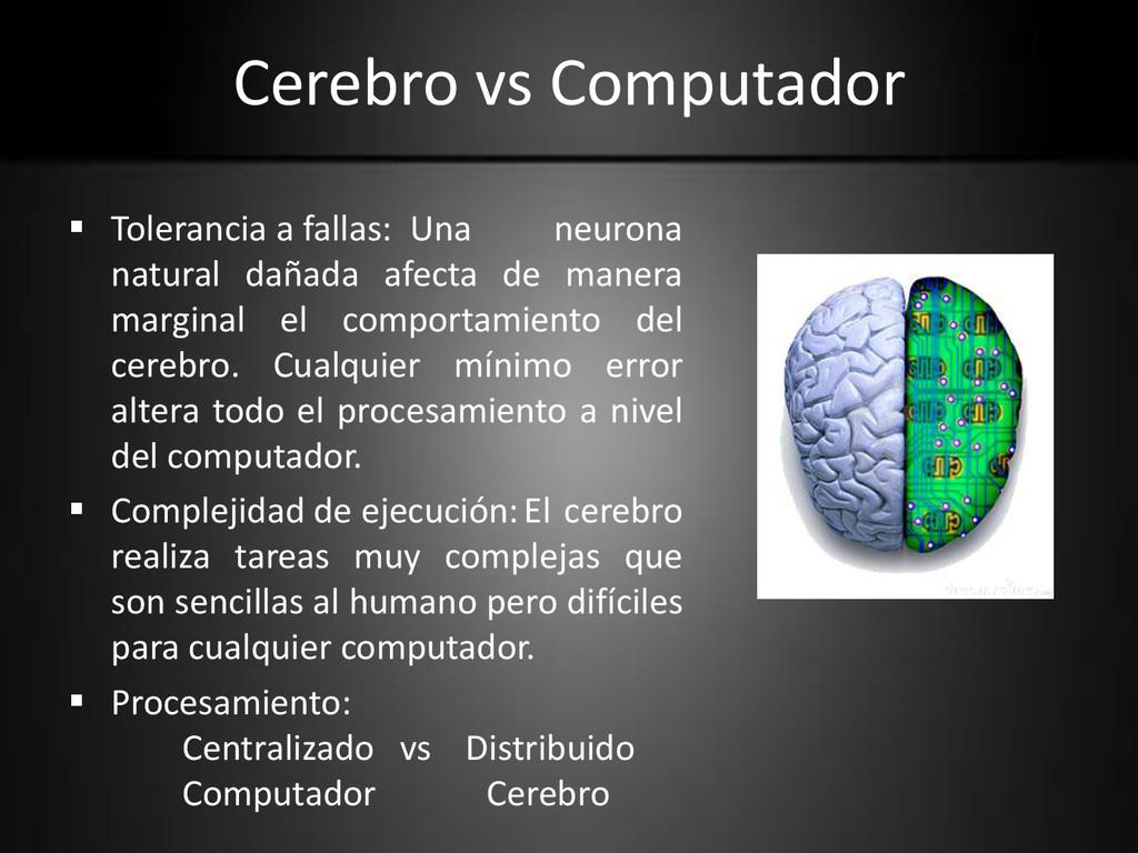 Cerebro vs Computador  Tolerancia a fallas: Un...