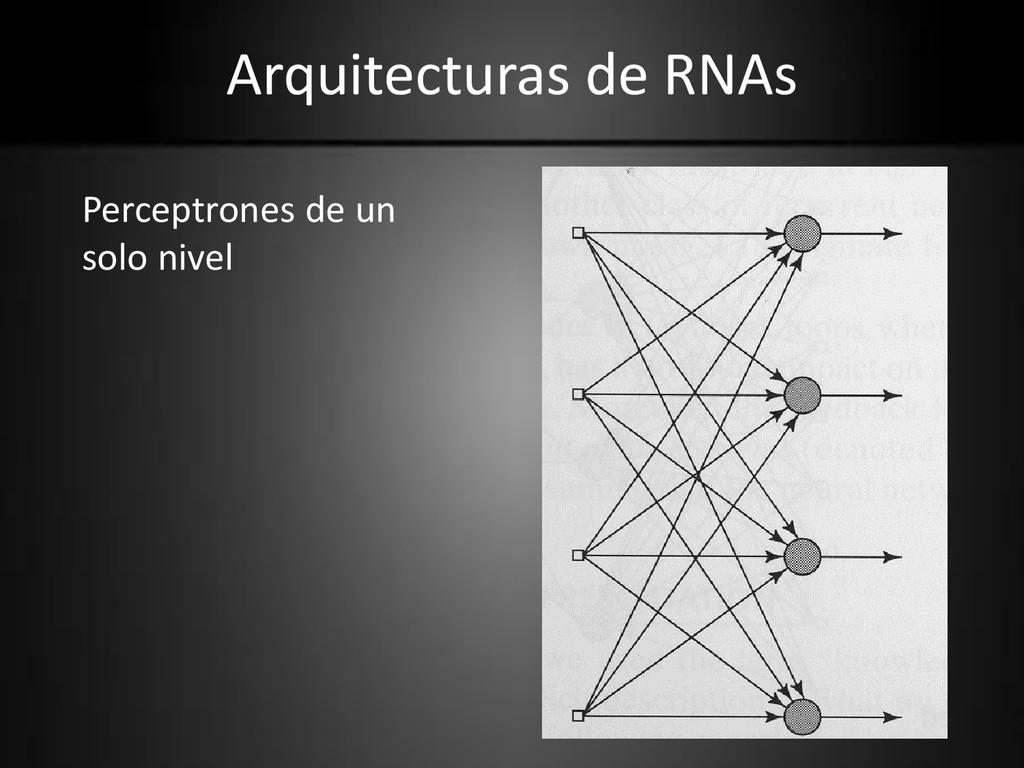 Arquitecturas de RNAs Perceptrones de un solo n...