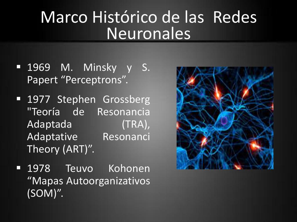 Marco Histórico de las Redes Neuronales  1969 ...