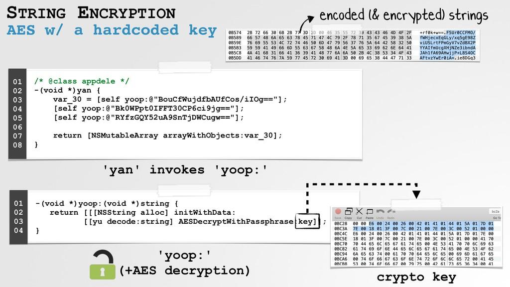 AES w/ a hardcoded key STRING ENCRYPTION encode...