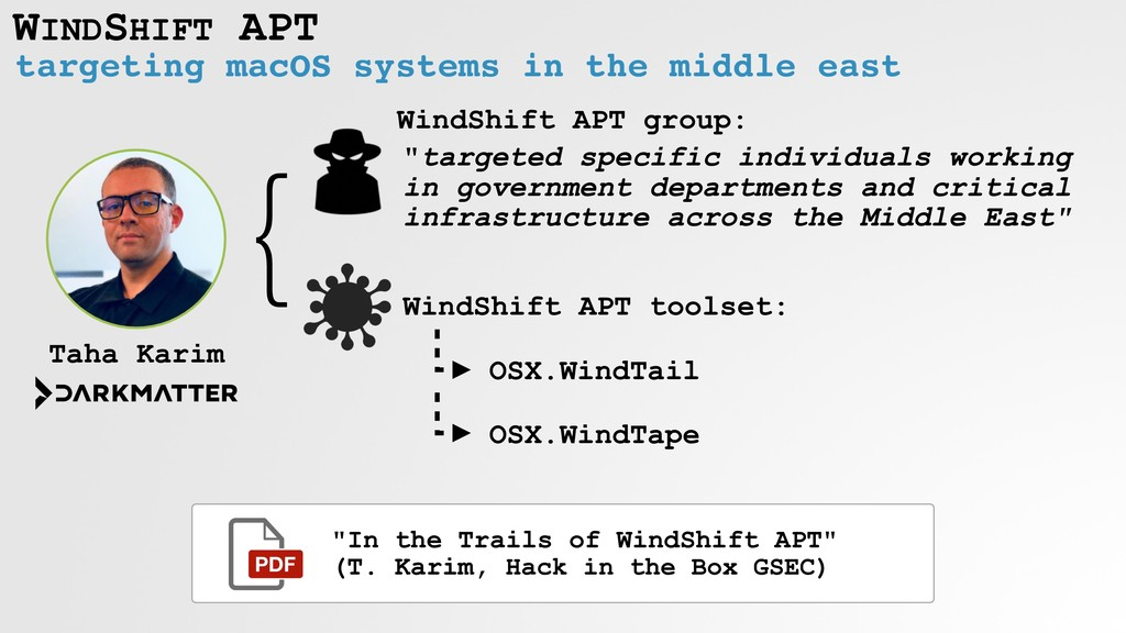 WINDSHIFT APT targeting macOS systems in the mi...