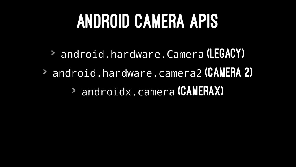ANDROID CAMERA APIS > android.hardware.Camera (...