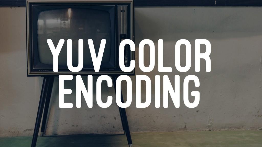 YUV COLOR ENCODING