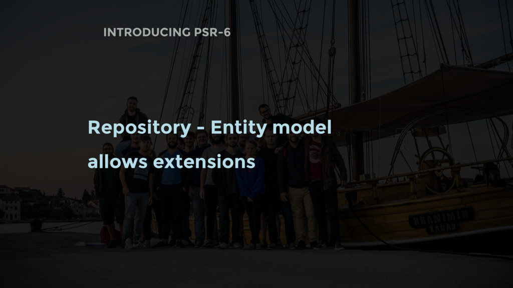 INTRODUCING PSR-6 Repository - Entity model all...