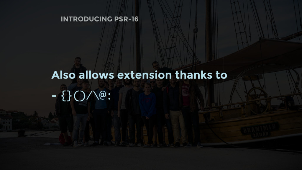 Also allows extension thanks to - {}()/\@: INTR...