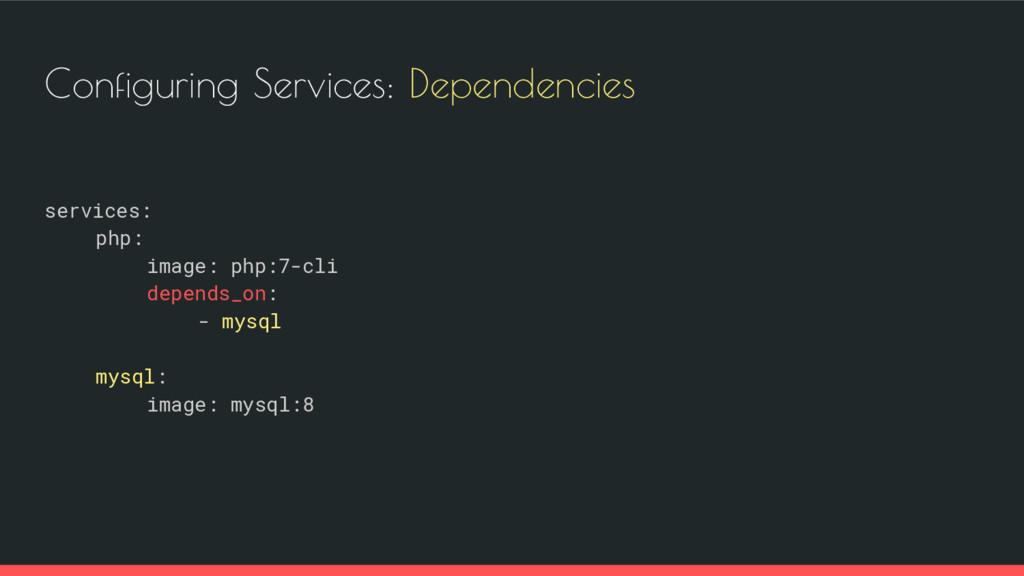 Configuring Services: Dependencies services: ph...