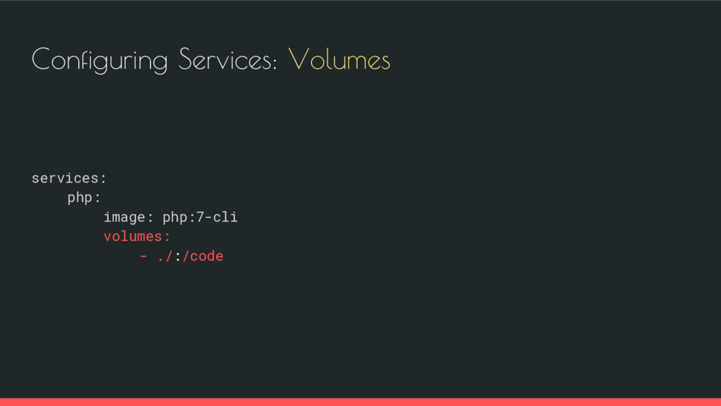 Configuring Services: Volumes services: php: im...
