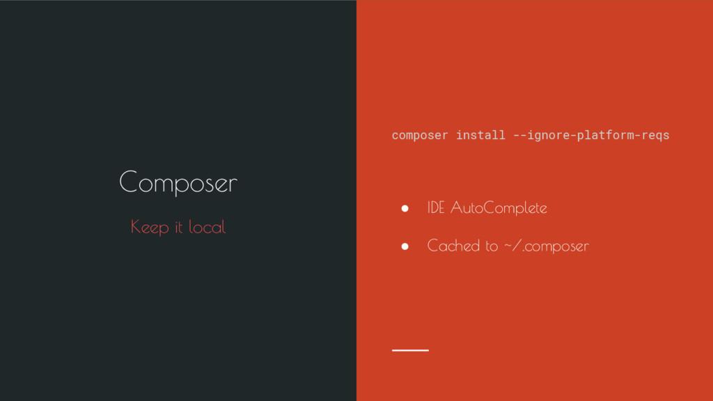 composer install --ignore-platform-reqs ● IDE A...
