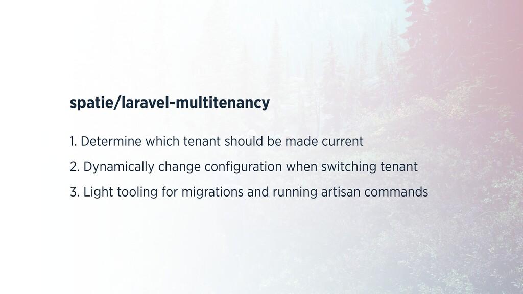 spatie/laravel-multitenancy 1. Determine which ...