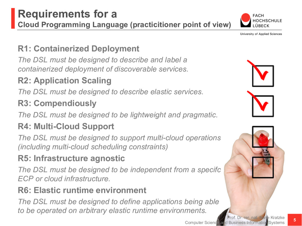 Requirements for a Cloud Programming Language (...