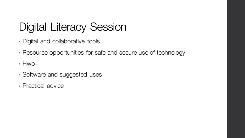 Digital Literacy Session • Digital and collabor...
