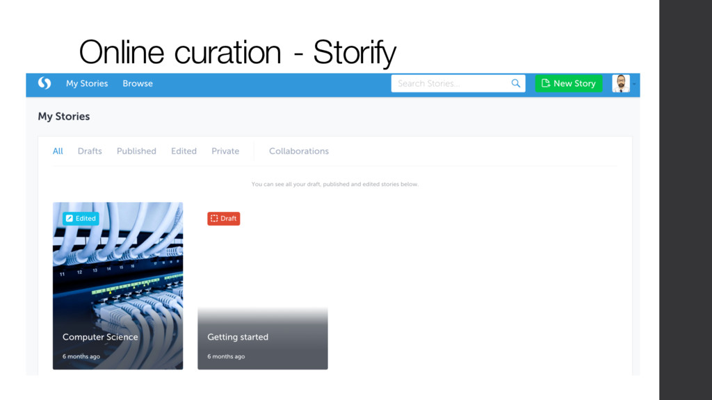 Online curation - Storify