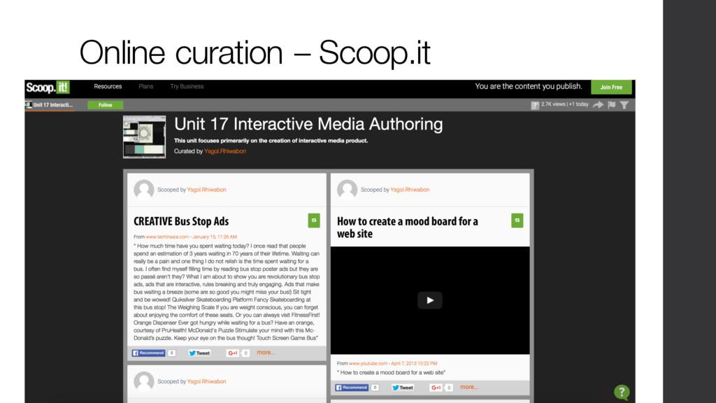 Online curation – Scoop.it