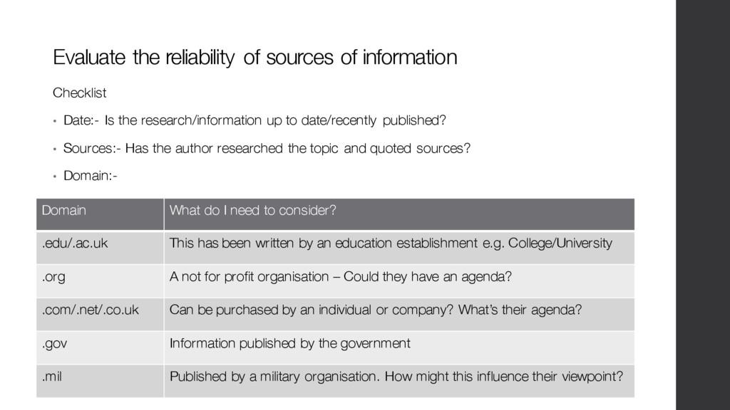 Domain What do I need to consider? .edu/.ac.uk ...