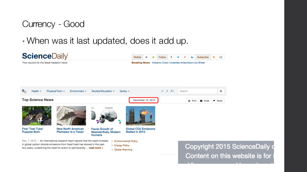 • When was it last updated, does it add up. Cur...