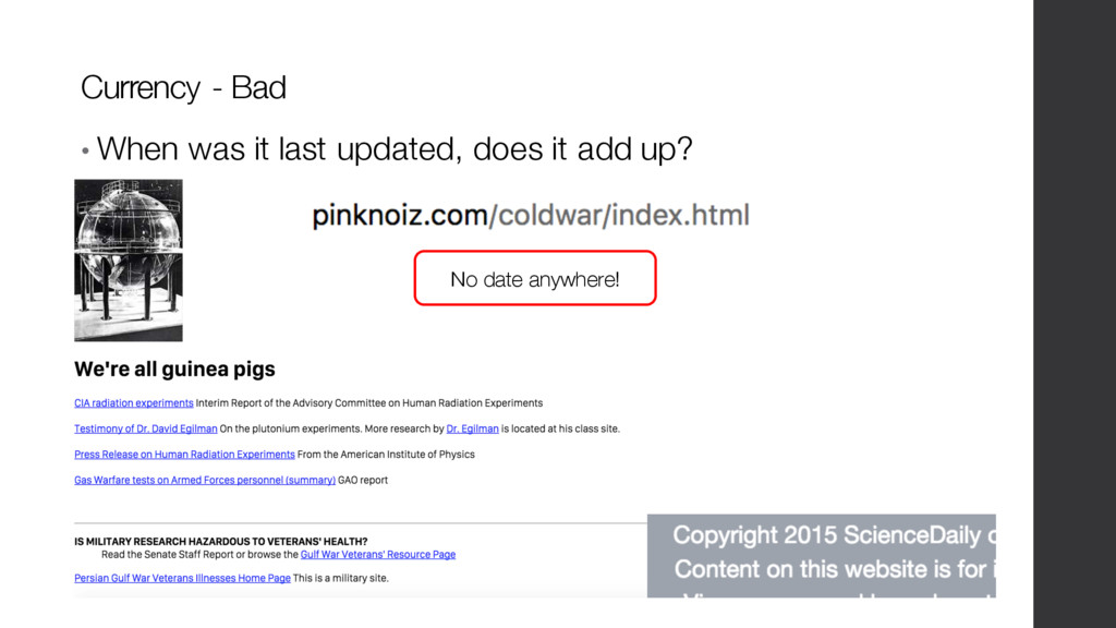 • When was it last updated, does it add up? Cur...