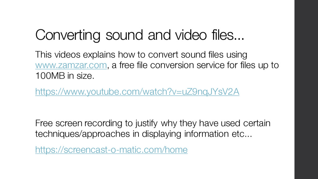Converting sound and video files... This videos...