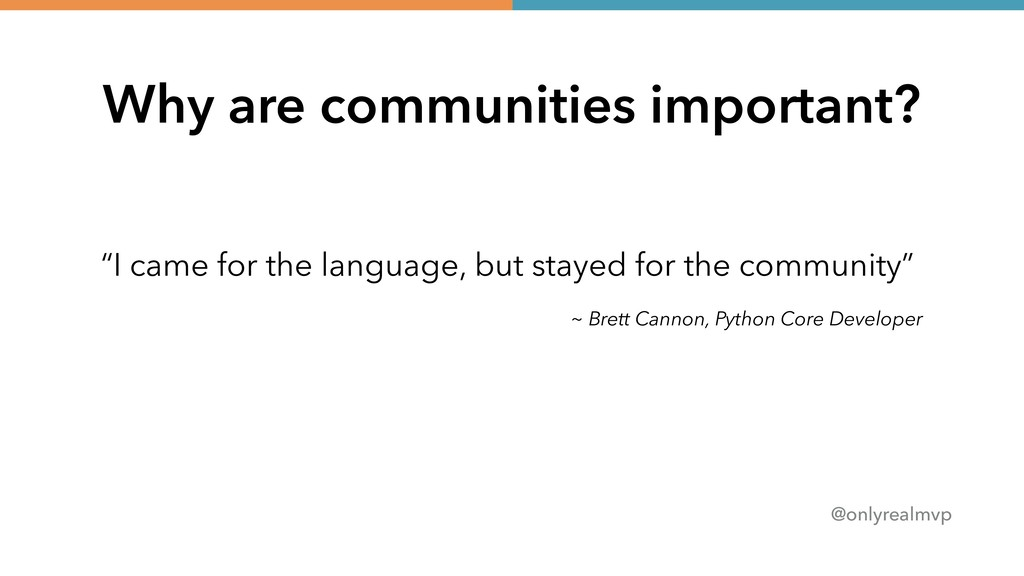 """@onlyrealmvp Why are communities important? """"I ..."""