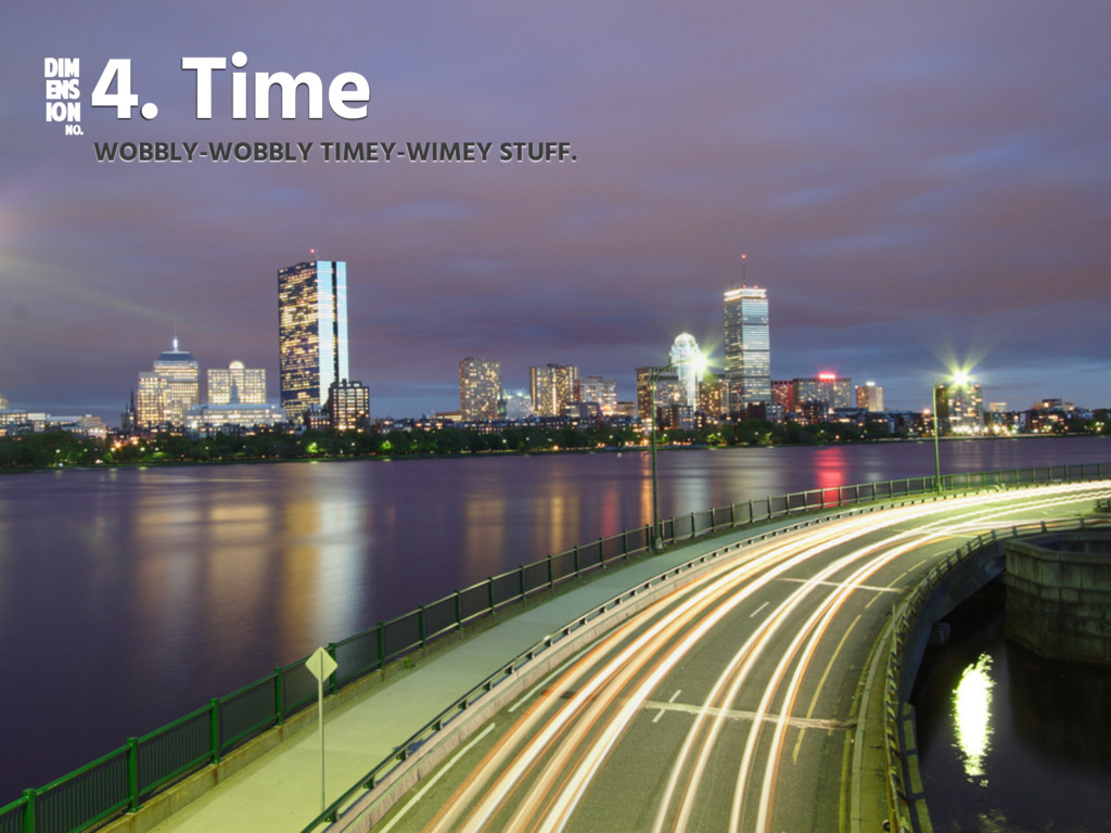 DIM ENS ION NO. 4. Time WOBBLY-WOBBLY TIMEY-WIM...