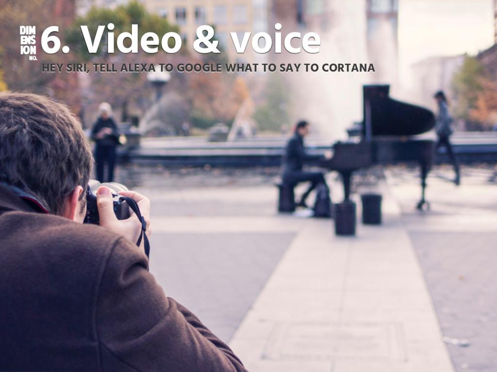 DIM ENS ION NO. 6. Video & voice HEY SIRI, TELL...