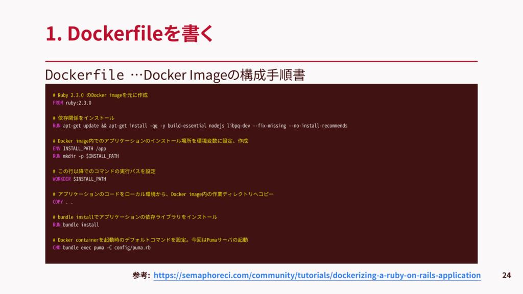 Dockerfile …Docker Imageの構成手順書 1. Dockerfileを書く ...