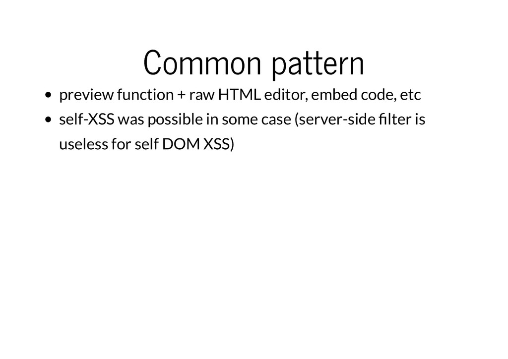 Common pattern Common pattern preview function ...