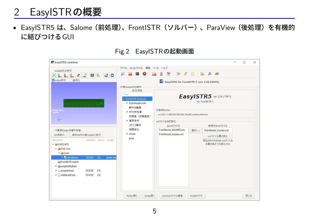 2 EasyISTRの概要 • EasyISTR5 は、Salome(前処理) 、FrontI...