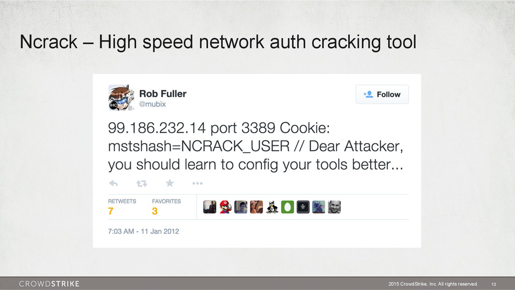 Ncrack – High speed network auth cracking tool ...