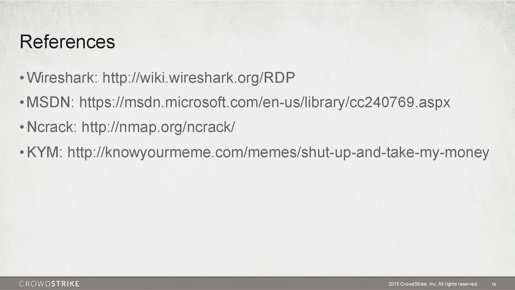 References •Wireshark: http://wiki.wireshark.o...
