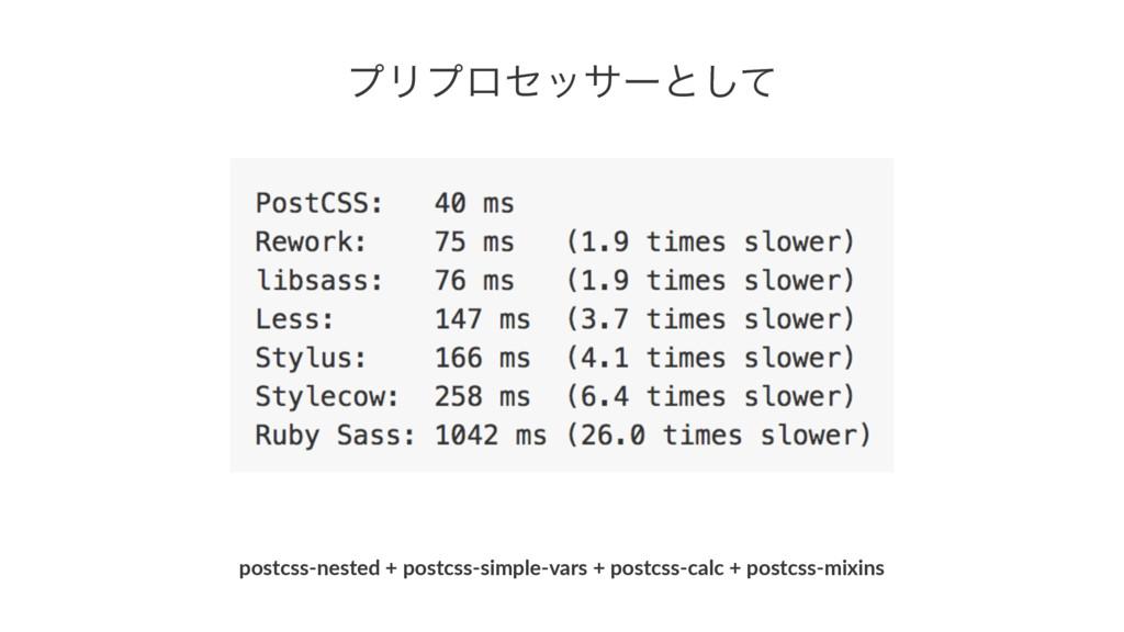ϓϦϓϩηοαʔͱͯ͠ postcss&nested*+*postcss&simple&var...