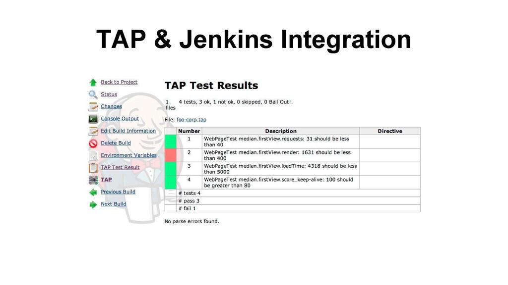 TAP & Jenkins Integration