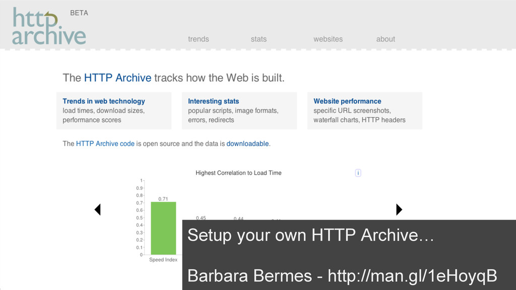 Setup your own HTTP Archive… Barbara Bermes - h...