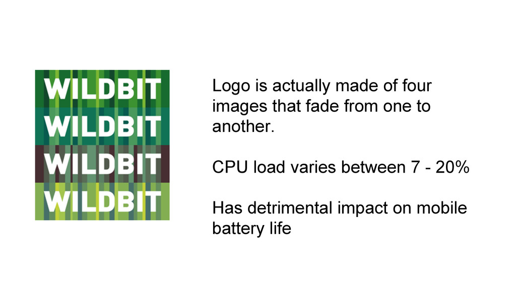 Logo is actually made of four images that fade ...